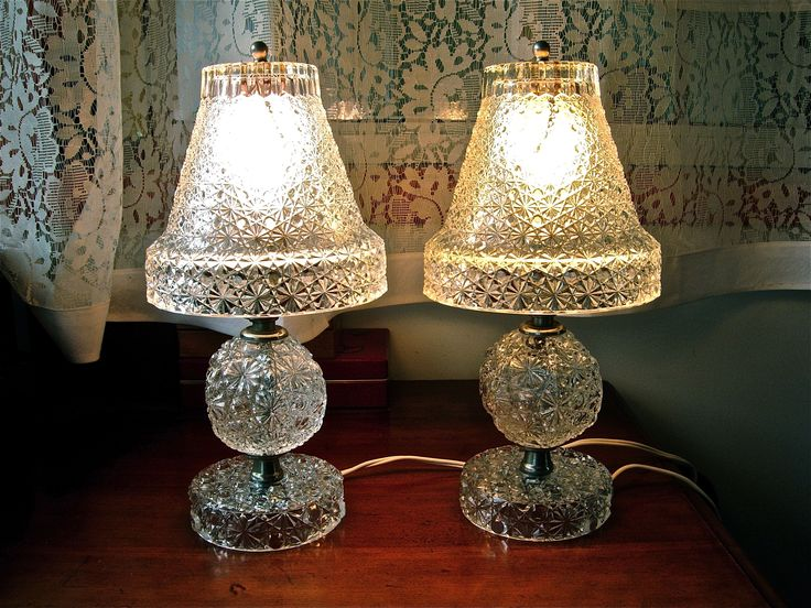 1000 images about lovely lamps on pinterest hurricane for Depression glass floor lamp