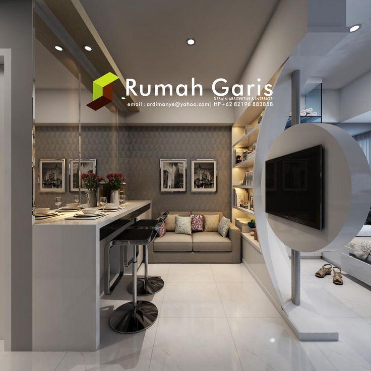 Desain Show Unit Living Room Interior Apartemen Tipe Studio Jasarender Renderonline Render3d