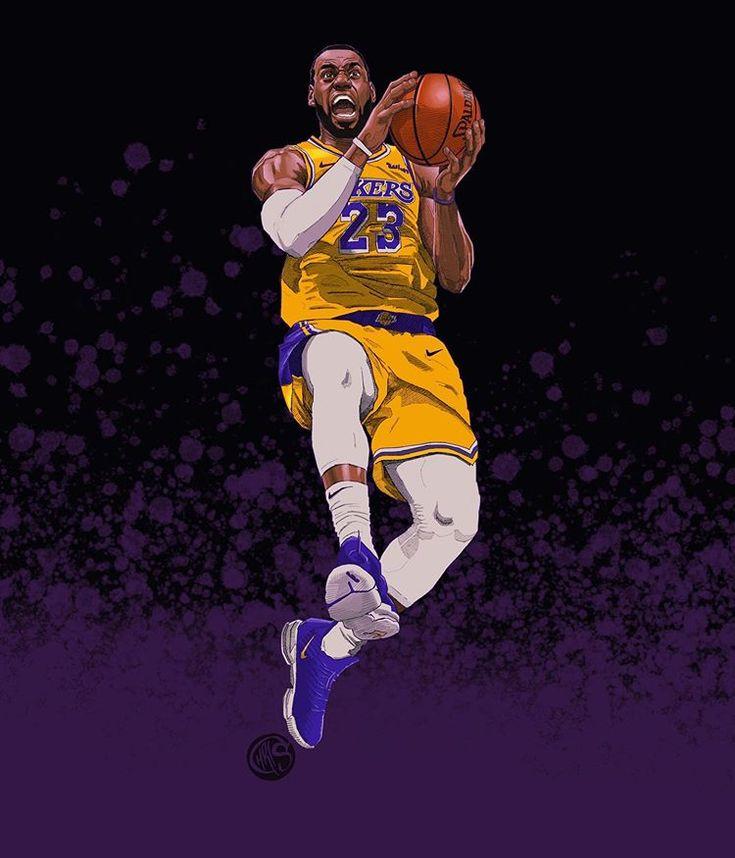 #procreate #illustration von King James mit @Nike #lebronxvi. Begonnen mit einem …   – Lebron James