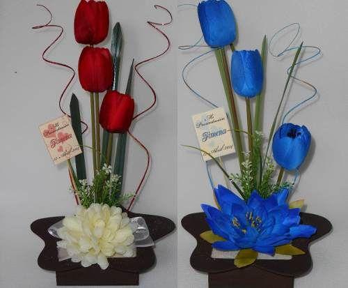 89 best centros de mesa images on pinterest flower vases - Centros de mesa con botellas ...