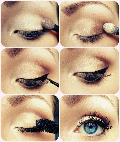 """""""I love this: its simple and casual. And great for a day at school or something... Simply chic!"""" Less eyeliner(and pencil liner), toned down eyeshadow, and the tiniest but less mascara and i will be using this for school from now on."""