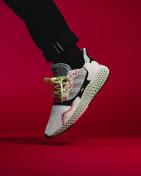 2a61346da adidas ZX 4000 4D Futurecraft Running White Grey Two Linen Green (B42203) -  Mood 2