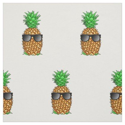 Cool Pineapple Fabric - craft supplies diy custom design supply special