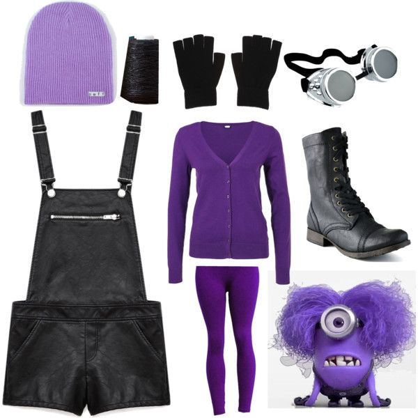 Evil Minion Costume by northie108 on Polyvore featuring polyvore, fashion, style, Forever 21, Candie's and Neff