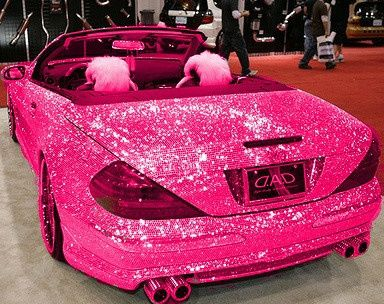 Omg!!!! I always said I want a hot pink with sparkles  convertible .