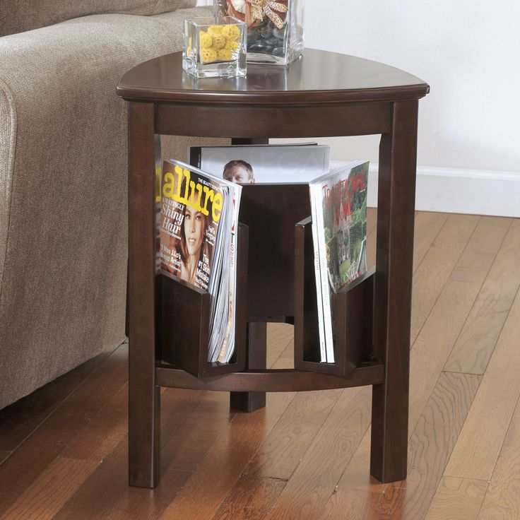 Signature Design By Ashley Larimer Brown Triangle End Table - Stylish and ultra practical, the Signature Design By Ashley Larimer Brown Triangle End Table is a handsome addition to any living space. This smart...