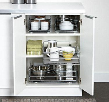 Ideas to keep the insides of your cabinets organized Avoid nose
