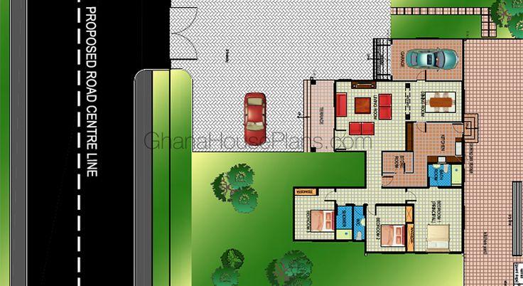 Ghana House Plans – Hastings House Plans – 3 Beds, 2 Baths