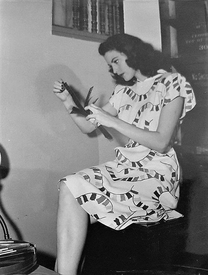 Ava Gardner on the set of Whistle Stop, 1946