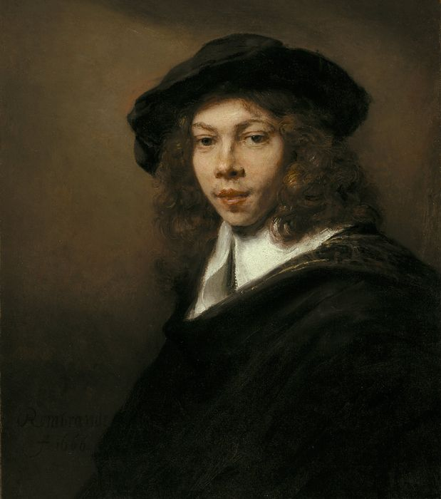 Рембрандт. Молодой человек в чёрном берете. 1666. Канзас-Сити (шт. Миссури). Музей искусств Нельсон-Аткинс.