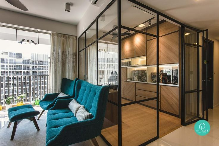 With comfort in mind, the homeowners worked with Reno Cube Pte Ltd to put together a home that is elegant and inviting, through the use of wood accents.