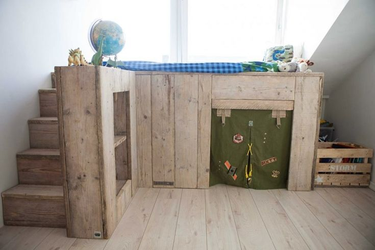 #Hoogslaper #steigerhout #jongenskamer #Kids | Room26