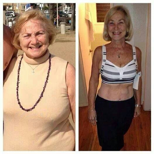 My favorite 21 Day Fix transformation!  Mary, 71 years young!