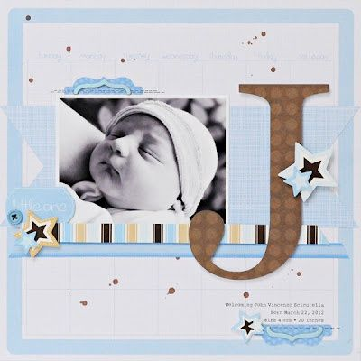 cute baby scrapbook page