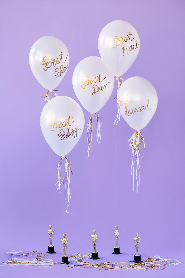 Birthday gift bags 5 cooking for oscar - Diy Oscar Party Balloon Awards