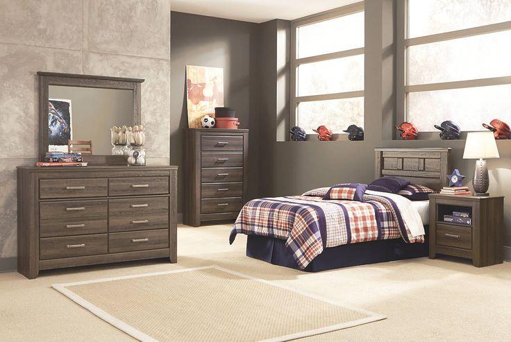 Juararo twin bedroom set with twin panel headboard