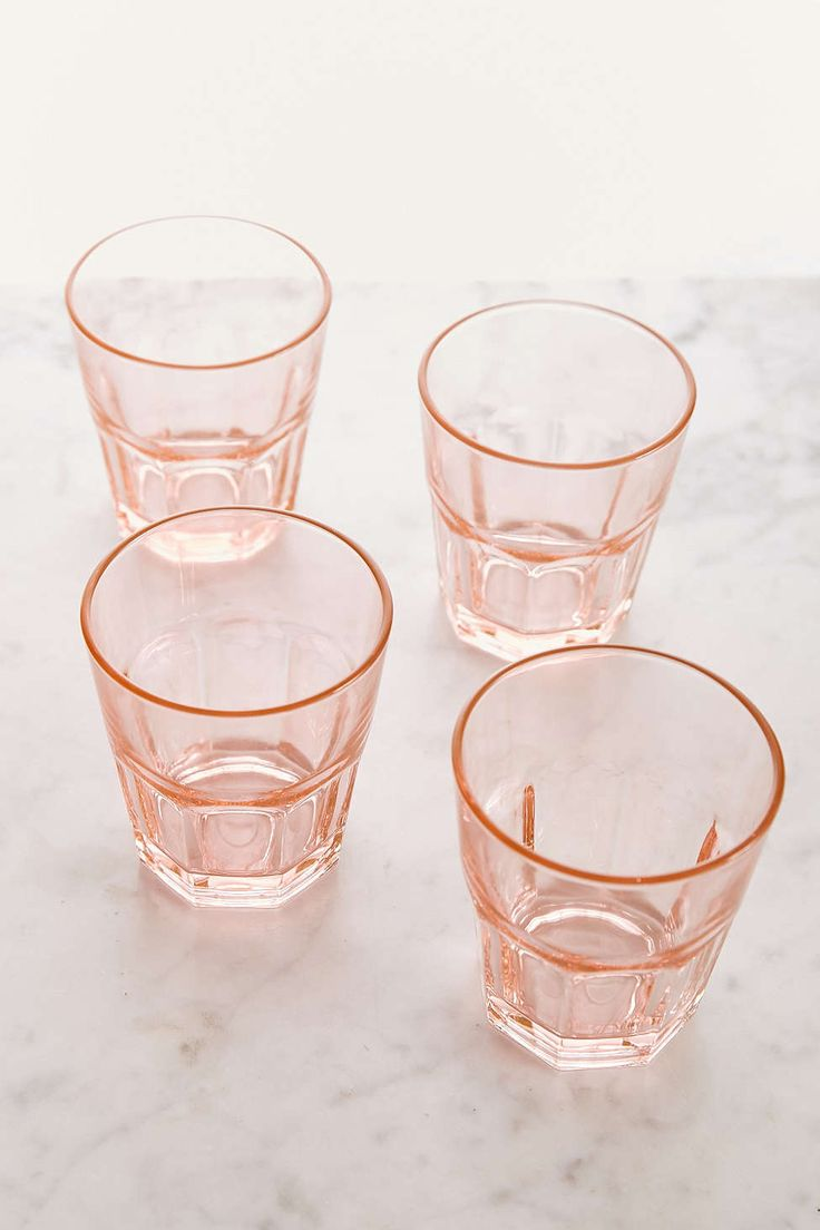 Pink Drinking Glasses