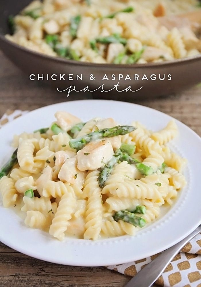 This flavorful and delicious chicken and asparagus pasta is the perfect light dinner or lunch for a busy day!