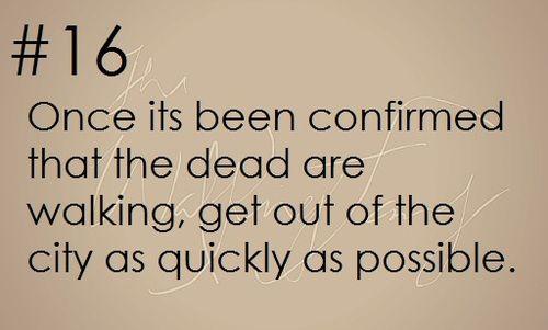 Zombie Apocalypse Survival tips