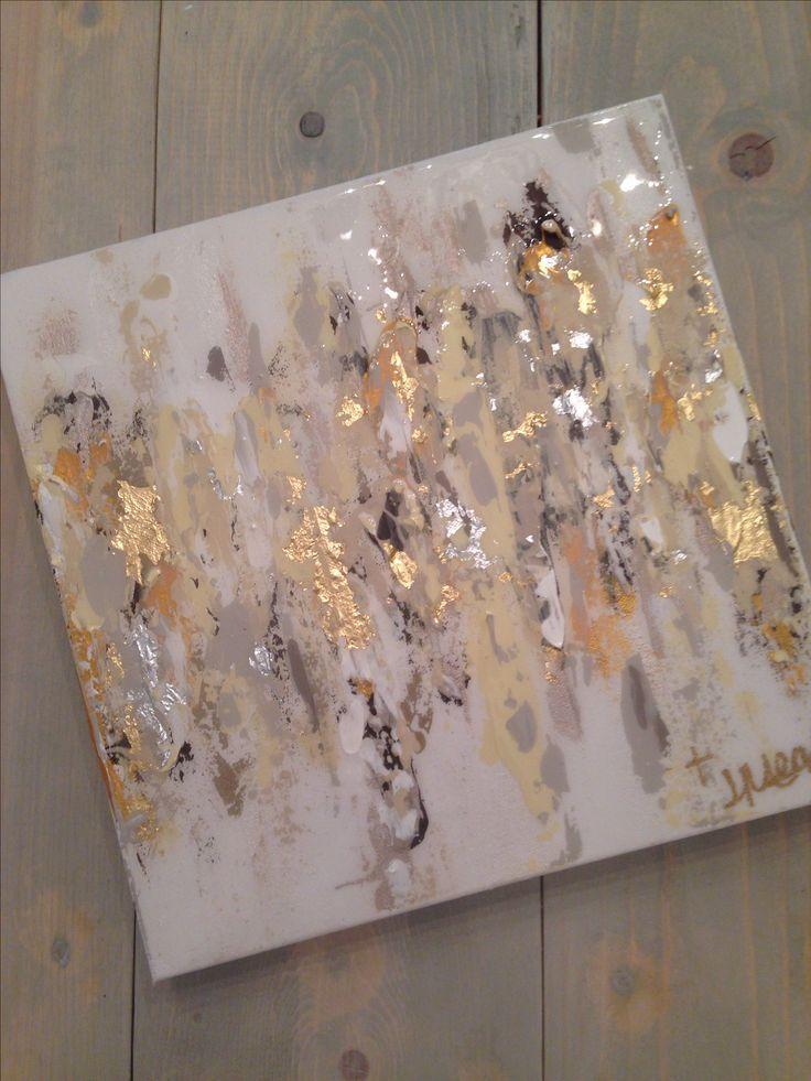 Image result for gold leaf design on black canvas