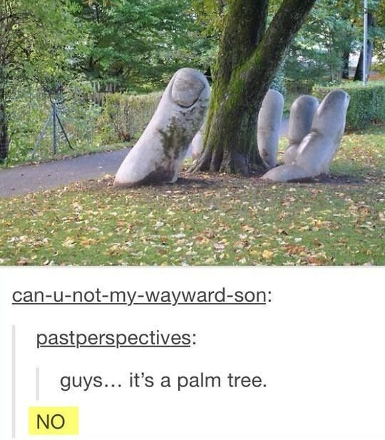 When this user probably realized exactly what this artist was going for. | 19 Times Tumblr's Pun Game Was Too Strong