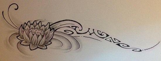 Croquis pour Tattoo Femme de modèle Maori Polynésien aux Motifs Marquisiens