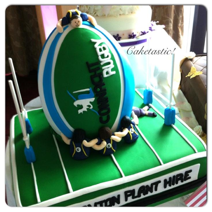 Rugby cake!! https://www.facebook.com/pages/Caketastic/163765000425745?ref=hl