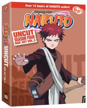 Naruto DVD Season 4 Box Set 2 Uncut