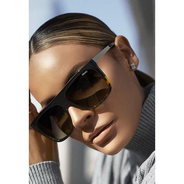 Quay Eyewear x Desi Perkins OTL II Sunglasses (85 AUD) ❤ liked on Polyvore featuring accessories, eyewear, sunglasses, quay eyewear, quay glasses, quay sunnies and quay sunglasses