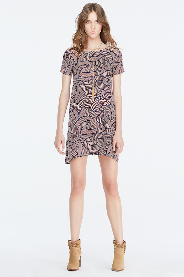 Dvf Maggy Short Sleeve Tunic Dress Date Night