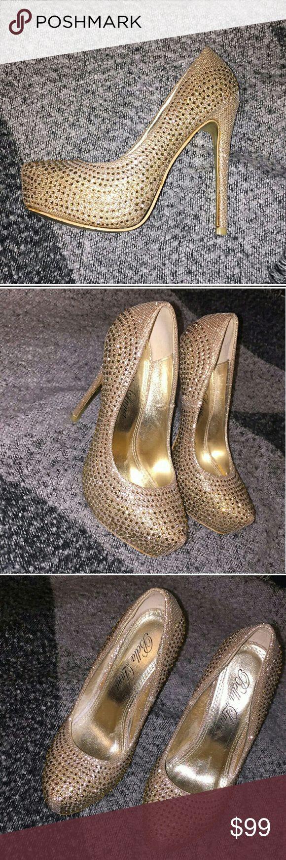NAME YOUR PRICE! Bella Luna Jeweled Heels Worn once Excellent condition Size 7 bella luna Shoes Heels