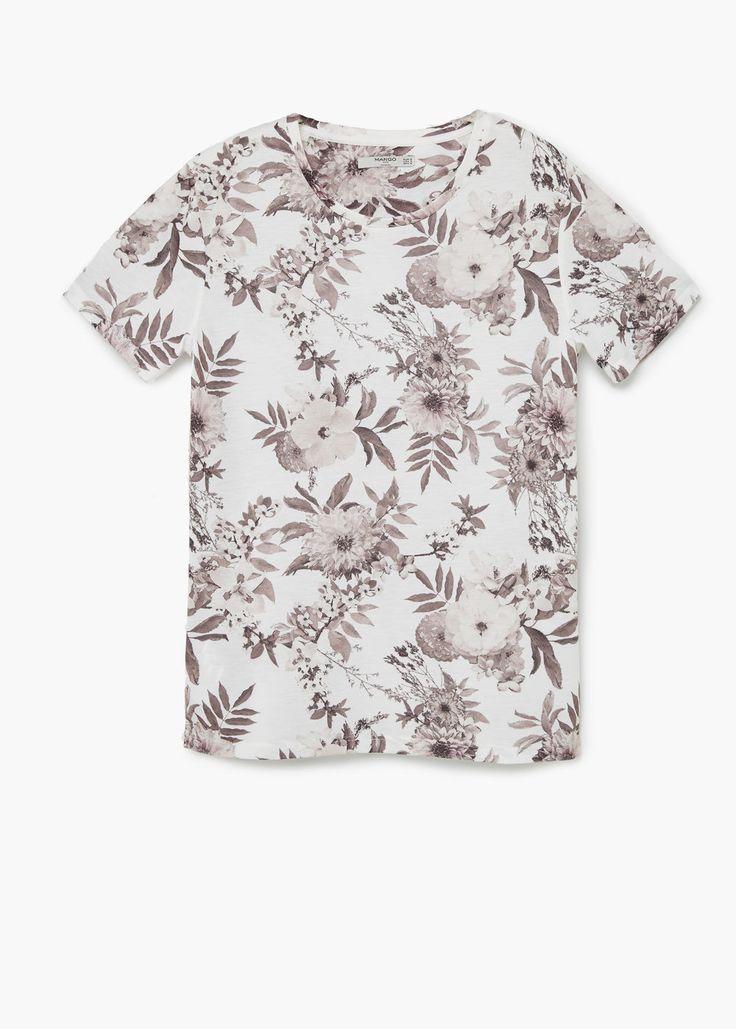 Camiseta estampado floral | MANGO MAN