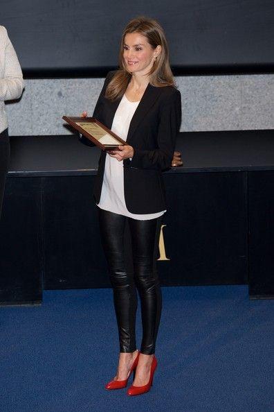 Princess Letizia of Spain attends AEEPP 2013 Awards at the Casa de la Moneda in Madrid