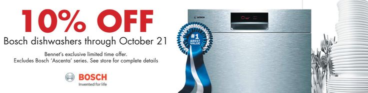 Limited Time Special now on The Quietest Dishwasher Built. Do Not Wait, Save 10% Now at Bennet's Appliance Centers in North East Ohio