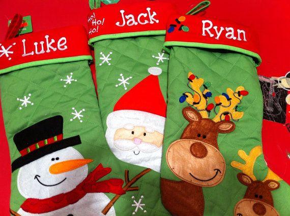 SPEICAL LISTING  ERIN  Spirit Kids Christmas Stocking