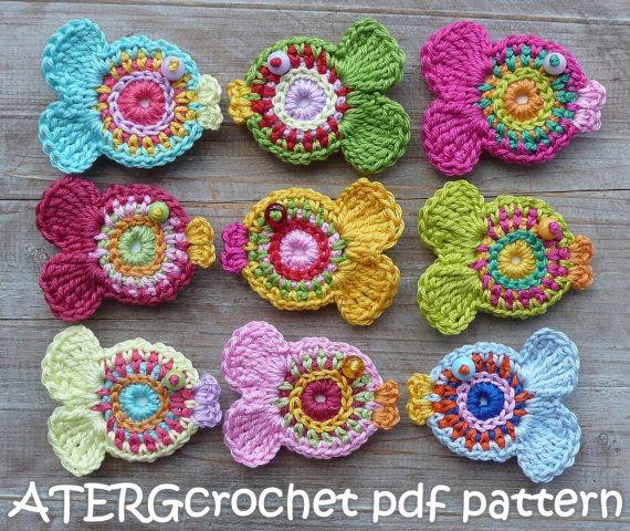 Crochet pattern FISH key ring by ATERGcrochet by ATERGcrochet