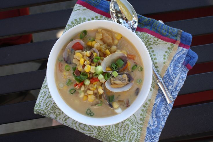 corn and clam chowder | Soup | Pinterest