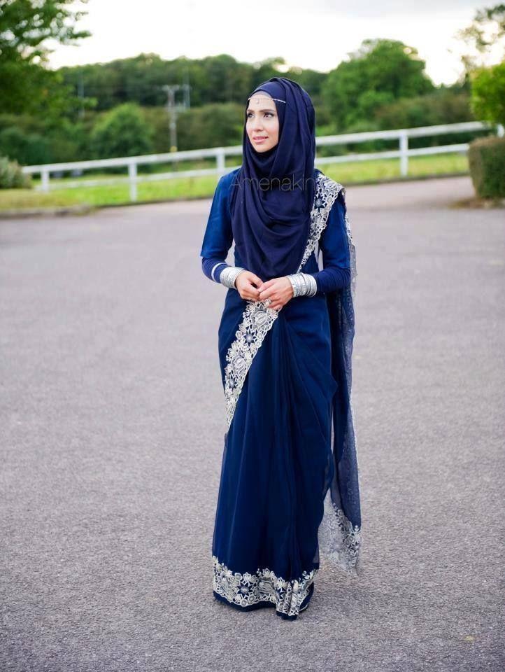 She rocks the sari with hijab. Really, she does. #Hijaab
