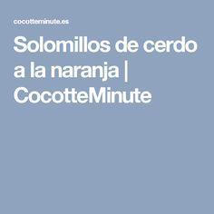 Solomillos de cerdo a la naranja | CocotteMinute