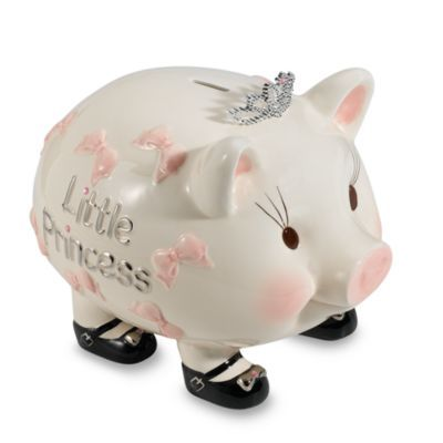 Mud Pie™ Baby Princess Piggy Bank