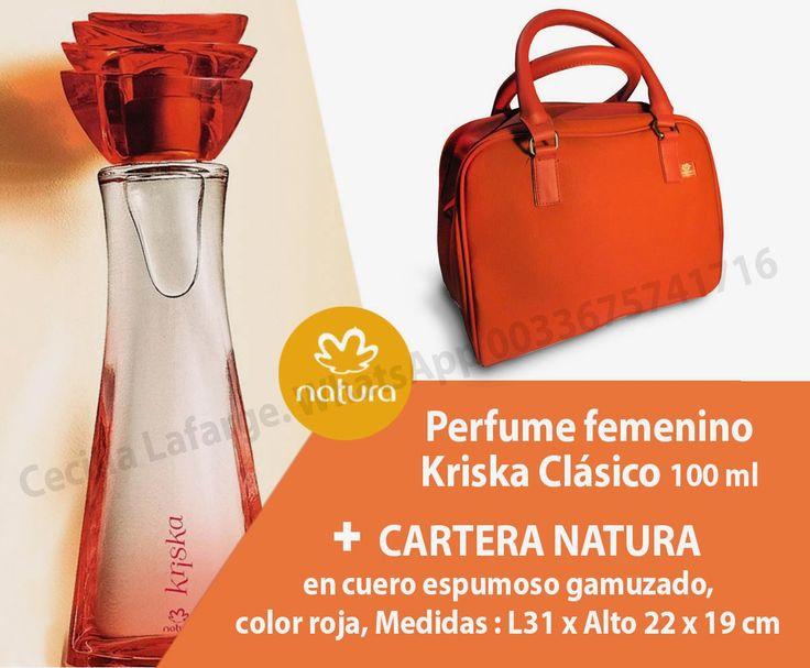 Pack Natura Kriska N°2 = 43€ - Perfume Clásico Kriska 100 ml  - Cartera Natura, color rojo Pedidos : Whatsapp 0033675741716 cecilia.naturaeuropa@gmail.com #naturakriska #naturaventas #perfume #eaudetoilette #naturaeuropa #naturafrancia #naturabrasil #consultoranatura #packkriska #regalokriska #regalo #regalomama #regaloella #ventasnatura #perfumecuerpo #cuerpo #perfumefemenino #perfumemujer #kriskaclasico #kriskarojo #kriskadenatura #bolsokriska #perfumeybolso