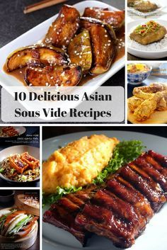asian recipes prepared with sous vide including babyback ribs, eggplant, fried chicken, seafood, pork belly, and spicy tofu