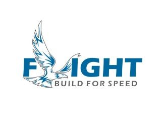 flight Logo design - Describe the speed and strong. Price $200.00