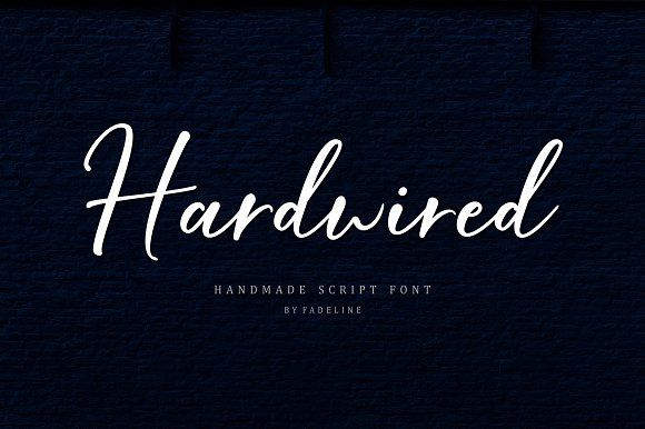 Hardwired Script by FadeLine on @creativemarket