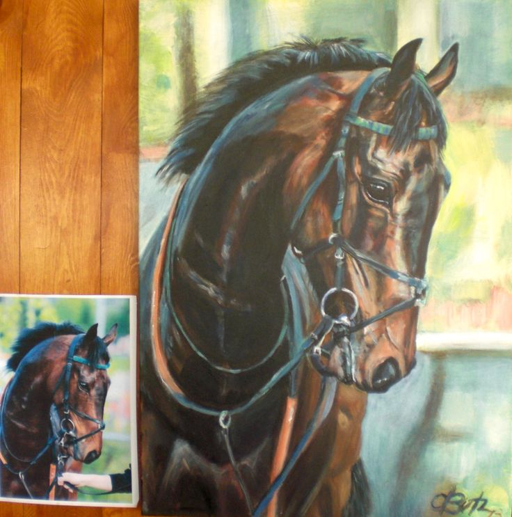 a portrait from one of your favorite horse, dog, cat or your friend is an individual and everlasting gift.  www.odette-butz.com