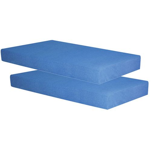Works With Ikea Kura Bed Spa Sensations 5 Memory Foam Blue Youth Twin Mattress Set Of 2