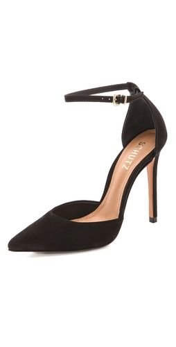 Love a good pointed shoe to work into just about any outfit -- Schutz Irma Ankle Wrap Pumps