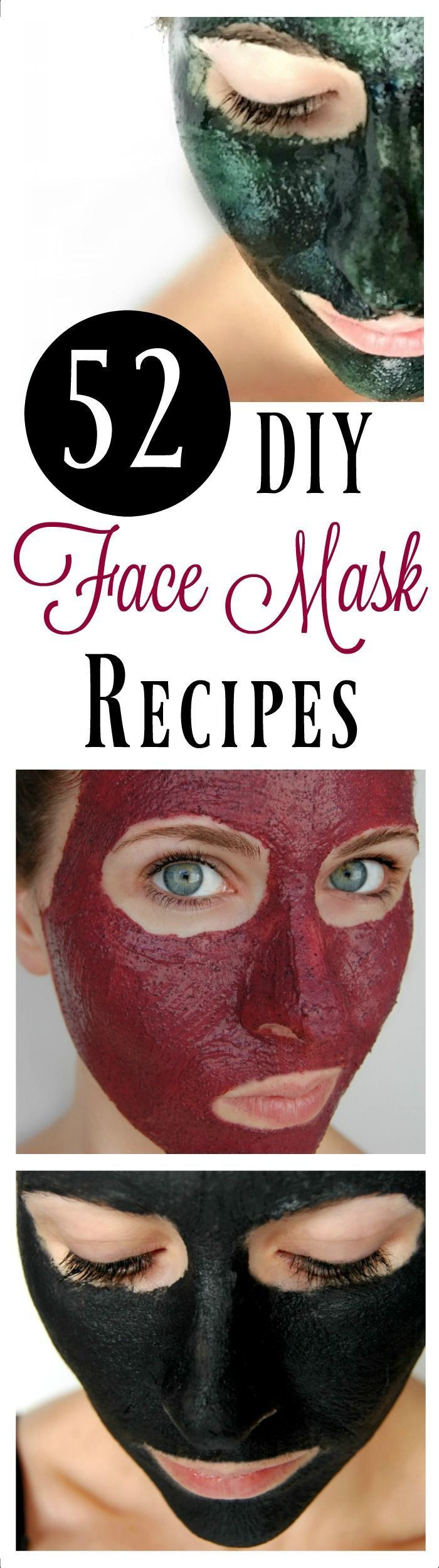 DIY face masks are incredibly easy to make and you likely already have the ingredients to make them! Here are 52 DIY face masks for you to make! That's one for each week of the year!