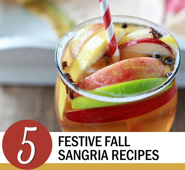 5 Festive Fall Sangria Recipes   Sangria recipes ...