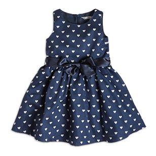Hjärtmönstrad klänning - Lindex